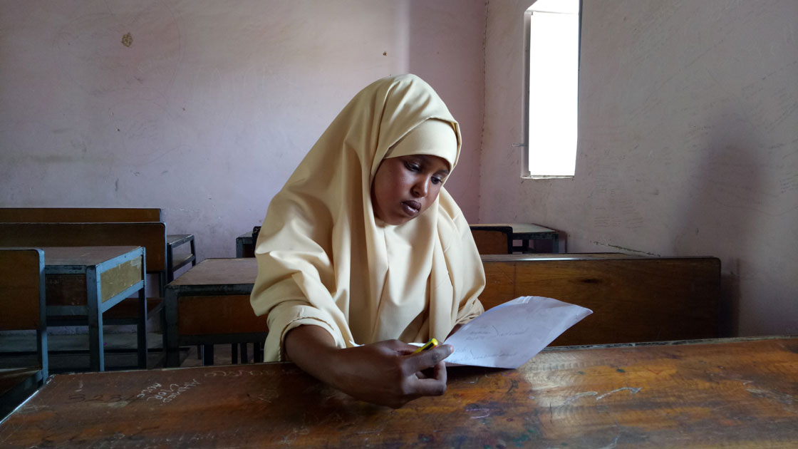 Ifrah participates in Relief International's education program that empowers young women to break the cycle of poverty.