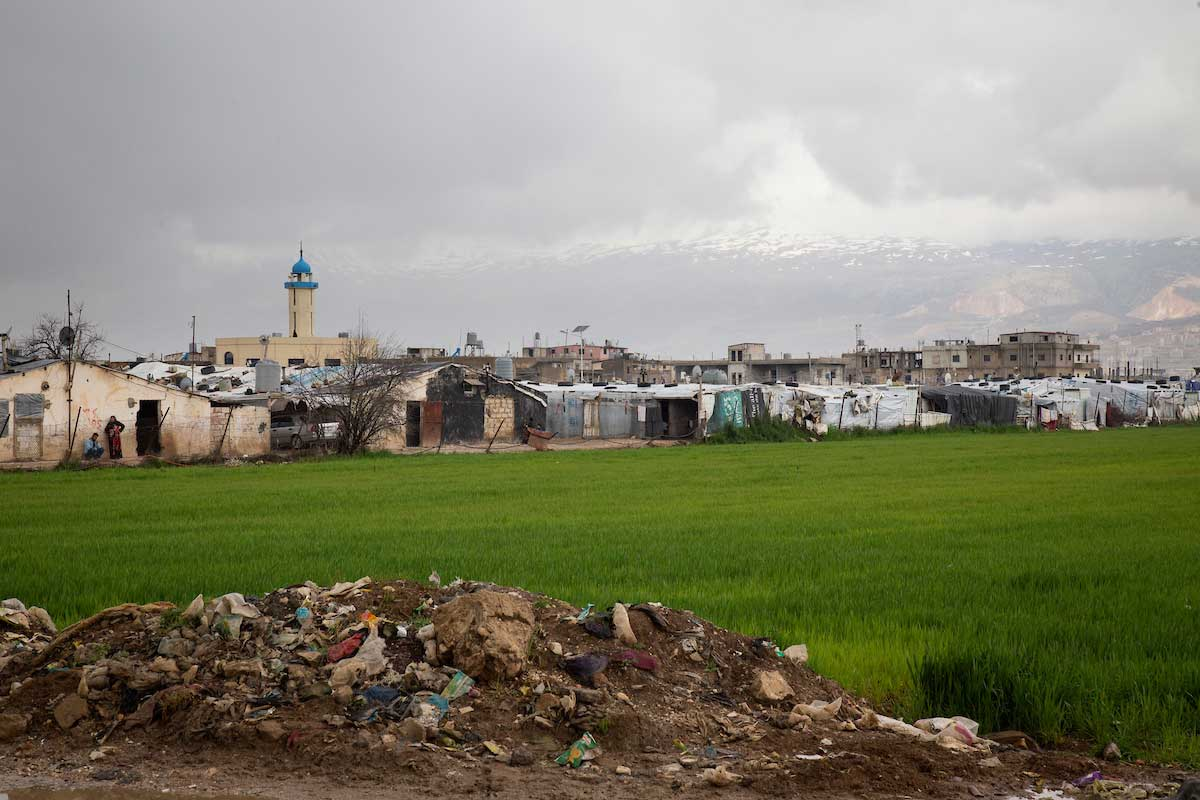 View of the informal settlement where Randa's family lives. Elie Gardner/RI
