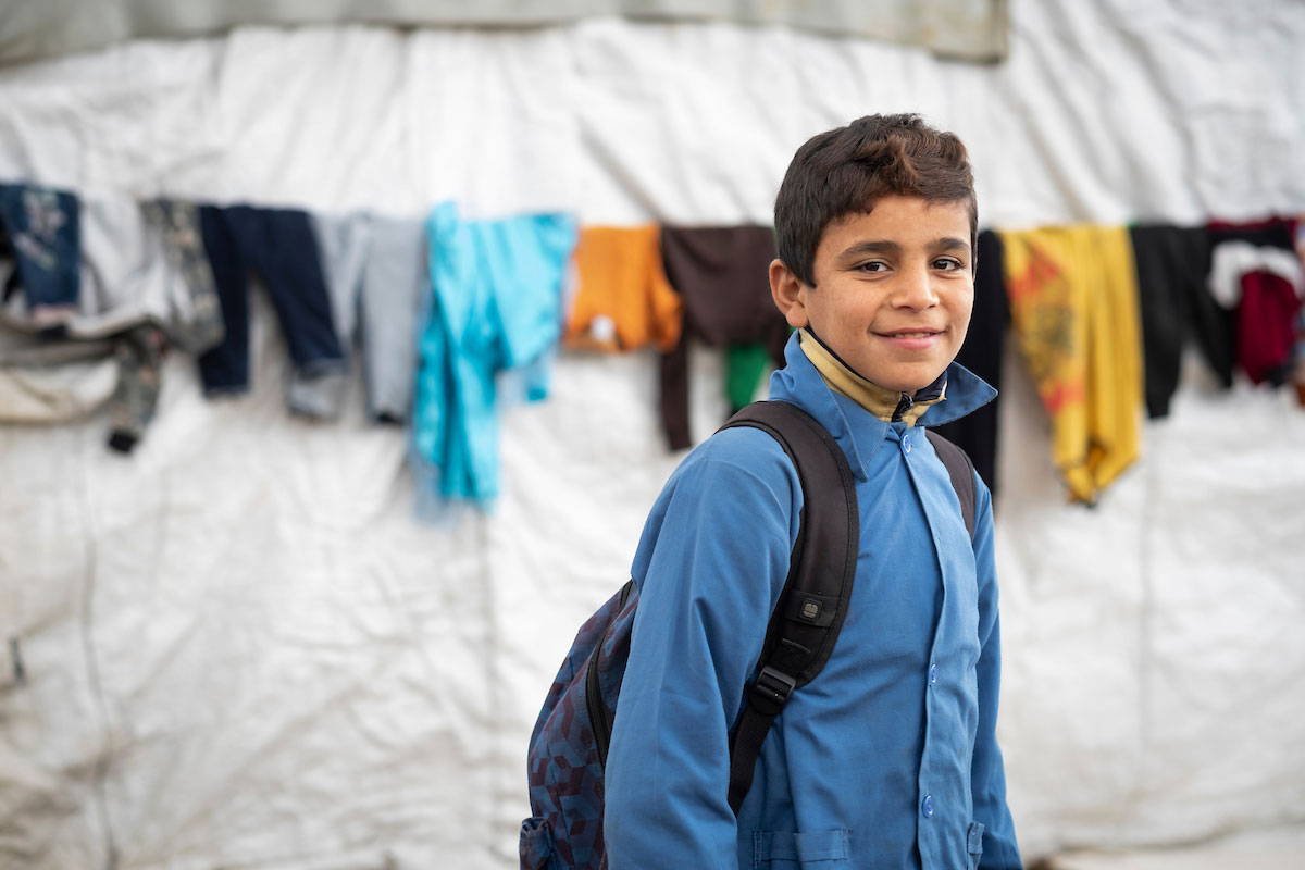 Twelve-year-old Rahim Al Sayyah participates in Relief International's Cash for Education program in Bekaa Valley, Lebanon. Elie Gardner/ RI.