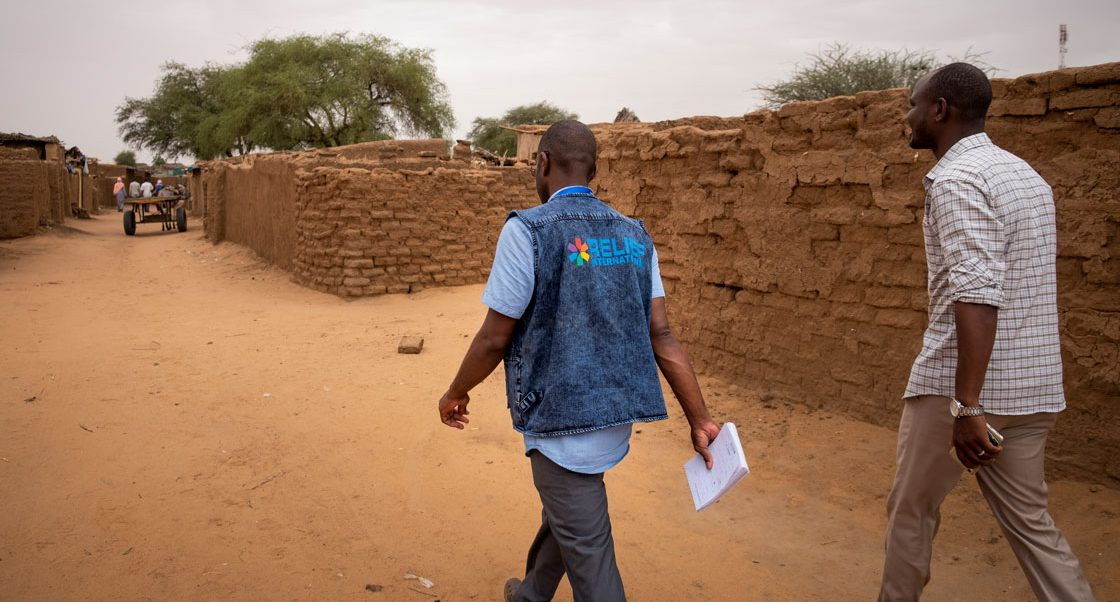 RI staff in Zamzam, Sudan. Elie Gardner/RI