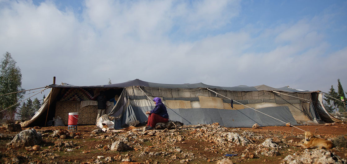 A camp for internally displaced people in northern Syria. ECHO